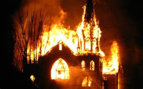 churches burn